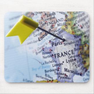 Zeichnen Sie das Button auf, das in Paris, Mousepad