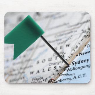 Zeichnen Sie das Button auf, das in Sydney, Mousepads
