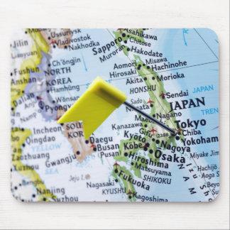 Zeichnen Sie das Button auf, das in Tokyo, Japan Mauspads