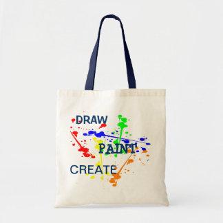 Zeichnen Sie, malen Sie, stellen Sie Tasche