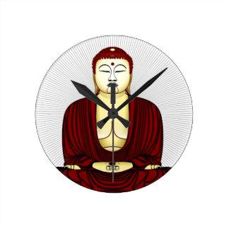 Zeichnen von Buddha Runde Wanduhr