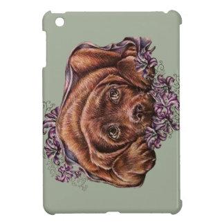Zeichnen von Hund und von Lilien Browns Labrador iPad Mini Hülle