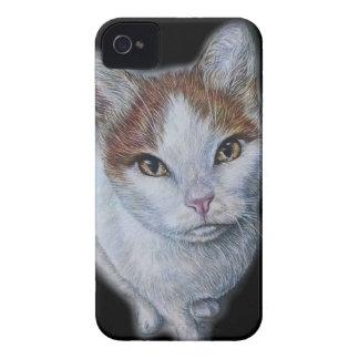 Zeichnen von Katzen-Weiß und Orange iPhone 4 Cover