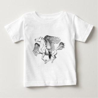 Zeichnender Pegasus - Fliegen-Pferd mit Flügeln Baby T-shirt