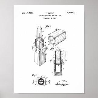 Zeichnendes Lippenstift-Patent, das Poster