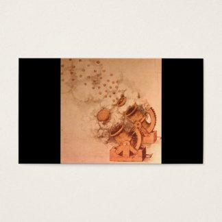 Zeichnungen der Kanonen durch Leonardo da Vinci Visitenkarte
