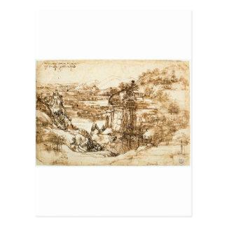 Zeichnungen von Leonardo da Vinci Postkarte