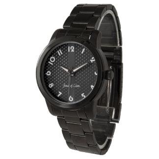 """Zeigen Sie Armband """"schwarze Eleganz """" Handuhr"""