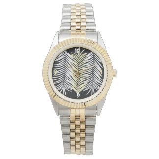 Zeigen Sie für beide Geschlechter Armband 2 Töne Uhr