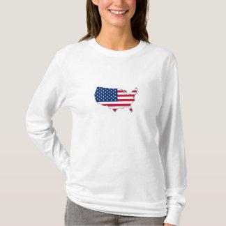 Zeigen Sie Ihren Patriotismus - Karte und Flagge T-Shirt