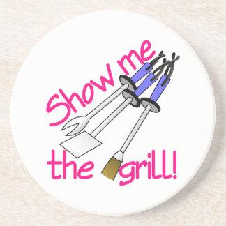 Zeigen Sie mir den Grill Getränkeuntersetzer