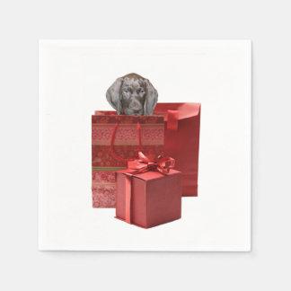Zeiger-Welpen-Weihnachtsgeschenk Servietten