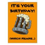 Zeit, betrunkene Geburtstags-Karte zu erhalten