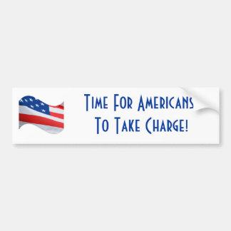 Zeit, damit Amerikaner Gebühr, amerikanische Autoaufkleber