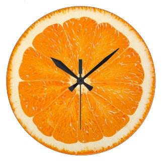Zeit des orange Eifers Große Wanduhr