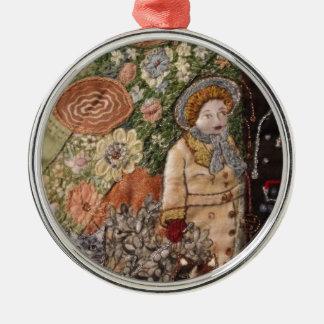 Zeit-Durchgänge Rundes Silberfarbenes Ornament