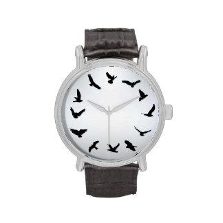 Zeit fliegt unbedeutende Neuheits-Vogel-Uhr Handuhr