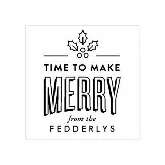Zeit, frohe Weihnacht-Briefmarke zu machen Gummistempel