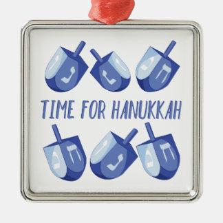 Zeit für Chanukka Silbernes Ornament
