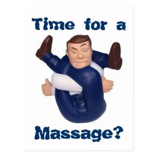 Zeit für eine Massage? Postkarte I