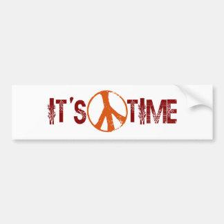 Zeit für Frieden Autoaufkleber