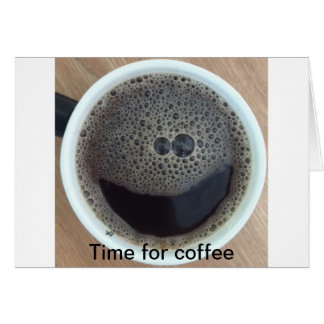 Zeit für Kaffee-Smiley Karte
