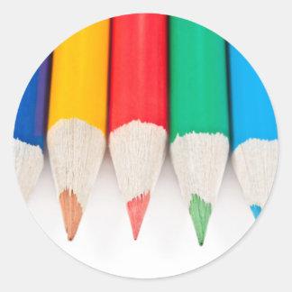 Zeit für Kreativität Runder Aufkleber