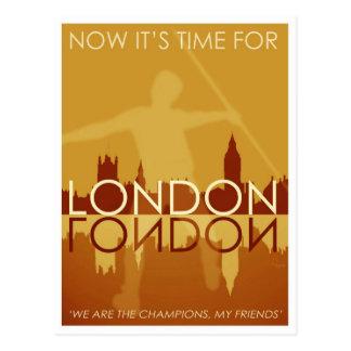 Zeit für London-Postkarte