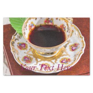 Zeit für Tee-Entwurf Seidenpapier