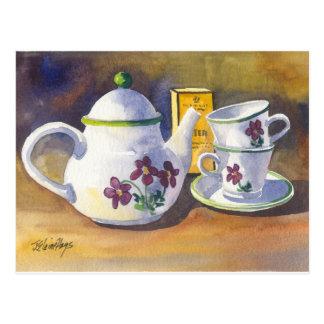 Zeit für Tee Postkarte