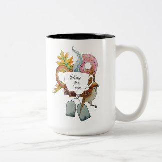 Zeit für Tee Zweifarbige Tasse