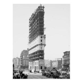 Zeit-Gebäude im Bau, New York: 1904 Postkarte