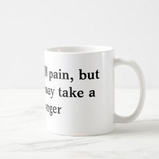 Zeit heilt alle Schmerz, Kaffeetasse