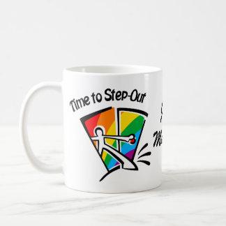 Zeit, heraus zu treten kaffeetasse