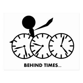 Zeit-Idiom-Reihe - Behing Zeiten Postkarte