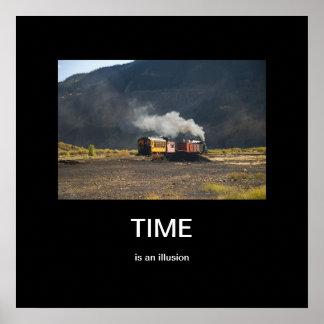 Zeit ist ein Illusion Demotivational Plakat