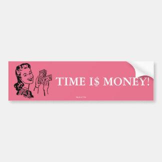 Zeit ist Geld-Autoaufkleber Autoaufkleber