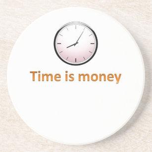 Zeit ist Geld Getränkeuntersetzer