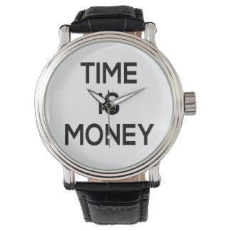 Zeit ist Geld Textentwurf, Wortkunst Armbanduhr