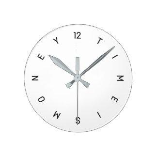 Zeit ist Geld - Wanduhr