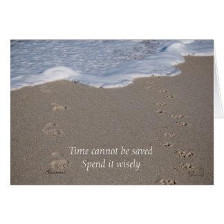 Zeit kann nicht gerettet werden, aufwenden es klug karte