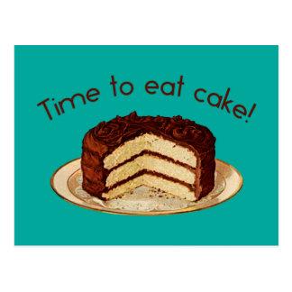 Zeit, Kuchen zu essen Postkarte