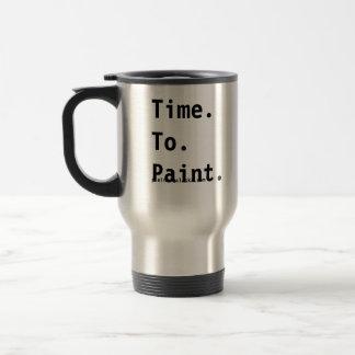 Zeit, Künstler-Reise-Tasse zu malen Edelstahl Thermotasse