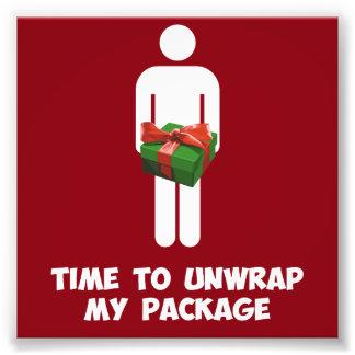 Zeit, mein Weihnachtspaket auszupacken Photodrucke