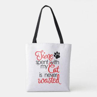 Zeit mit Katze Tasche