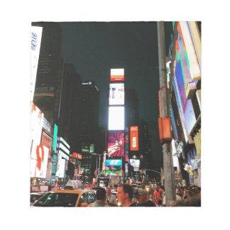 Zeit-Quadrat, NYC Notizblock