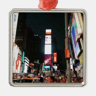 Zeit-Quadrat, NYC Silbernes Ornament