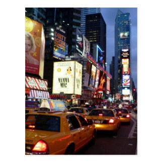 Zeit-quadratische Taxis Postkarte