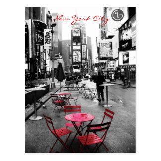 Zeit-quadratisches Schwarz-weißes Rot Postkarte