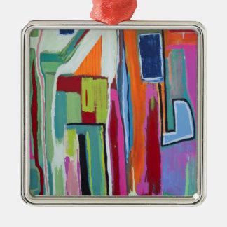 Zeit-Reise-Verzierung Silbernes Ornament